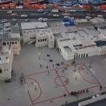 Sharjah Art Foundation Maider Lopez football field