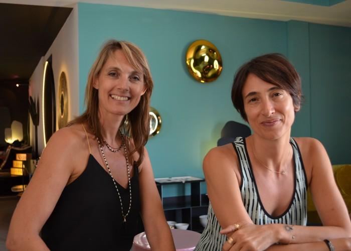 Emmanuelle Sawko and Alexandra de Montaudouin in Comptoir 102, Dubai