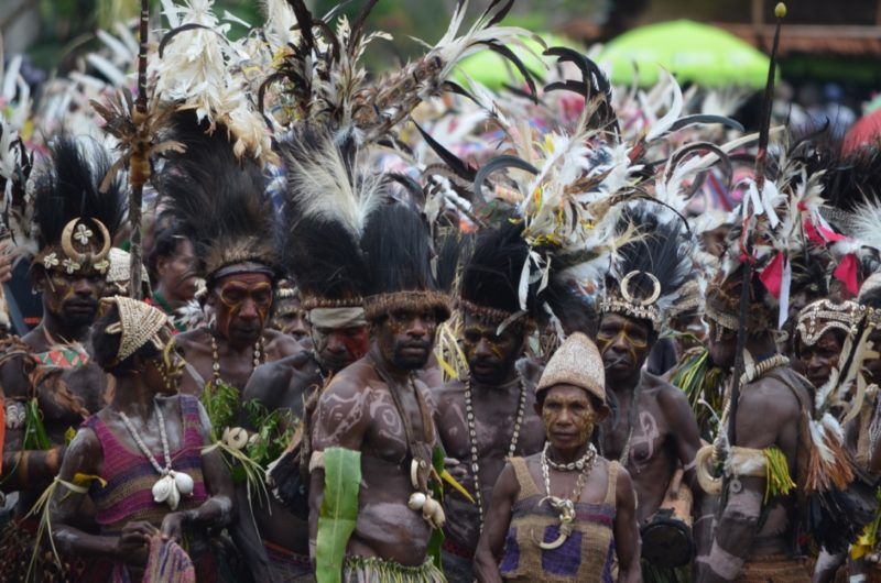 PNG Ambunti Crocodile festival singsing group