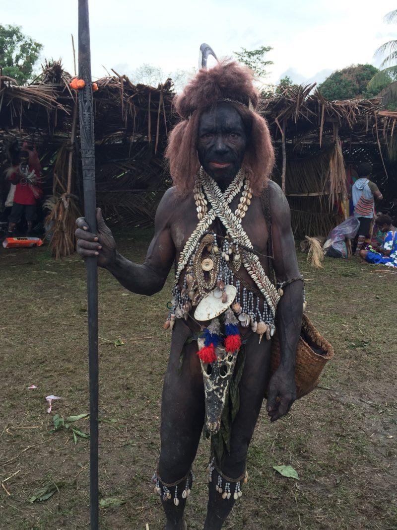 PNG Ambunti Crocodile festival tribeman