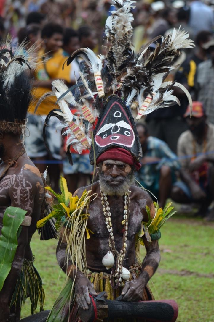 PNG Ambunti Crocodile festival tribesman