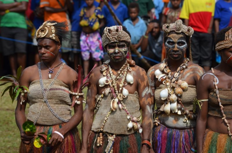 PNG Ambunti Crocodile festival tribeswomen